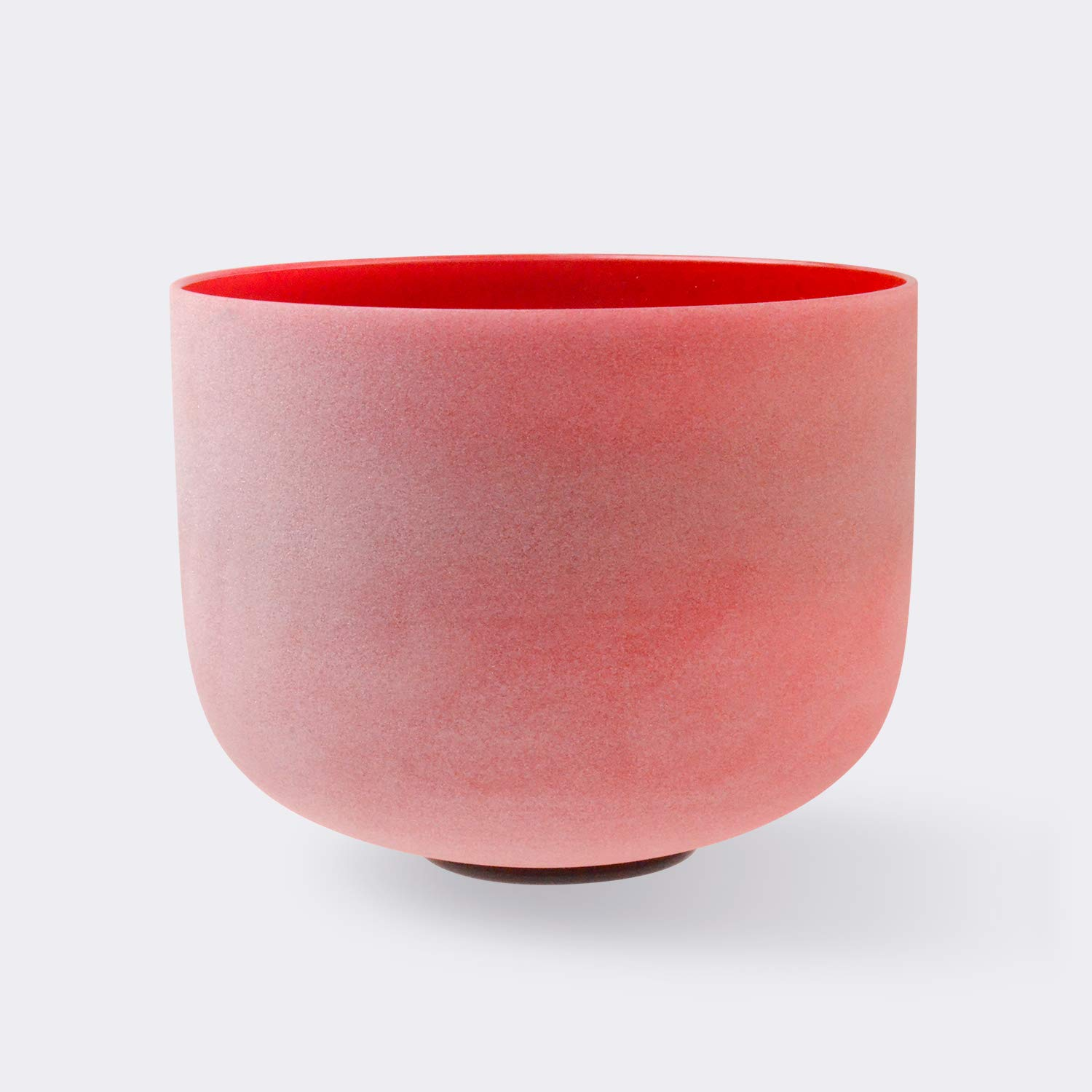 TOPFUND Singing Bowls C Note Crystal Singing Bowl Root Chakra Red Color 12 inch (O-Ring and Rubber Mallet Included) by TOPFUND (Image #2)