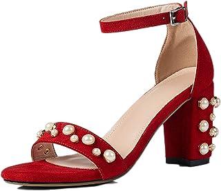 Sandales à Talons Hauts pour Dames, été, Bout Ouvert, Bride à la Cheville, extérieur