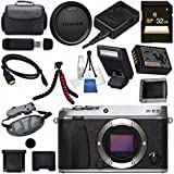 Fujifilm X-E3 XE3 Mirrorless Digital Camera (Silver) 16558401 + 32GB SDHC Card + Carrying Case + Micro HDMI Cable Bundle