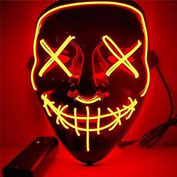 Máscara de Halloween LED Light Up Máscaras de Fiesta El año de elección de Purga Grandes