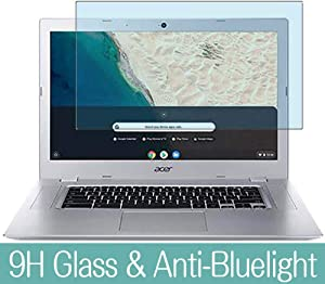 "Synvy Anti Blue Light Tempered Glass Screen Protector for Acer Chromebook 315 CB315-2H / CB315-2HT 15.6"" Visible Area 9H Protective Screen Film Protectors (Not Full Coverage)"