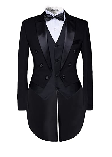 872cca800f18 Mens Black Morning Suit Tailcoat Jacket Evening Tails Sizes XS-6XL ...
