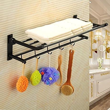 HYP Antique Folding Towel Rack Full Copper Black Towel Rack Bathroom Pendant Racks B Models