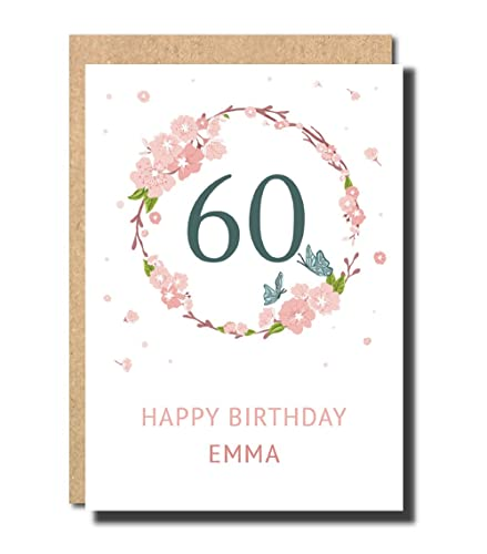 Personalised 20th Birthday Card For Women Floral Funny Sister Her Daughter Handmade Pop Up Prime