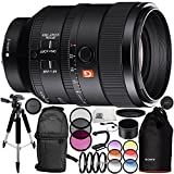 Sony FE 100mm f/2.8 STF GM OSS Lens 14PC Accessory Bundle – Includes Manufacturer Accessories + 3 Piece Filter Kit (UV + CPL + FLD) + MORE