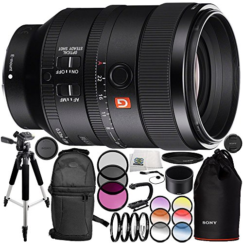 Sony FE 100mm f/2.8 STF GM OSS Lens 14PC Accessory Bundle – Includes Manufacturer Accessories + 3 Piece Filter Kit (UV + CPL + FLD) + MORE by SSE