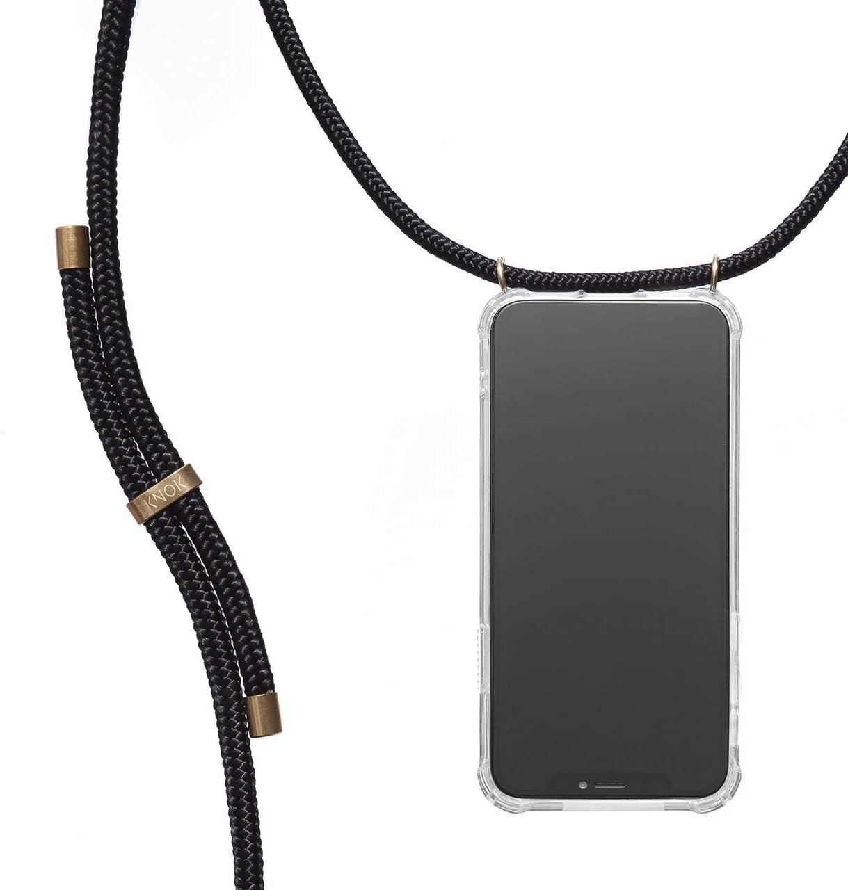 Transparent Case mit Schnur Schutzh/ülle mit Kordel in Tarngr/ün Handyh/ülle f/ür Smartphone zum Umh/ängen KNOK Handykette Kompatibel mit Samsung Note 10 Plus Silikon H/ülle mit Band