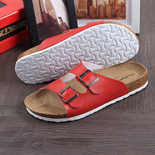 il e ragazza sabbia antiscivolo clip maschio rosso pantofole estate cool sandali ha Il pin casual tendenza Le fankou parte di che la ciabatte sughero trascinamento coppie una BSSOR7