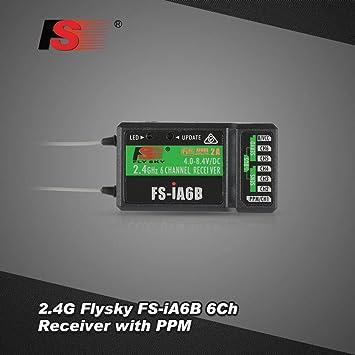2.4G Flysky FS-iA6B 6CH Receiver PPM Output w// iBus Port Compatible FS-i4//i6//i10