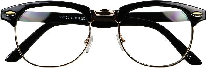 Crystal /& Gold Frame CLASSIC VINTAGE Style Clear Lens EYE GLASSES Transparent