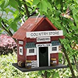 MorTime Wood Bird House, Retro Arts And Crafts Country Cottages Bird House, Woodland Cabin Birdhouse Outdoor Decor (Wood)