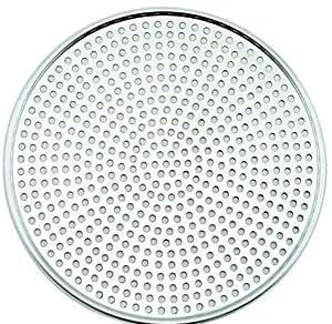 Winco AMS-11, Aluminum Mega Pizza Screen, 11-Inch Inner Diameter and 11.75-Inch Outer Diameter Pizza Crisper, Perforated Pizza Disk