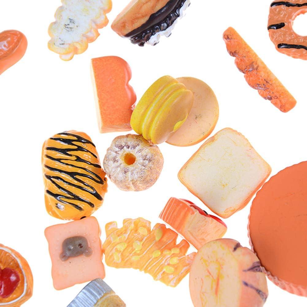 mu/ñecas Casa de mu/ñecas Adornos Pan Pan Artificial Ornamento Modelo Alimentario Pretend Juguete Dollhouse Accesorios 10pcs Dollhouse Accesorios miniaturas