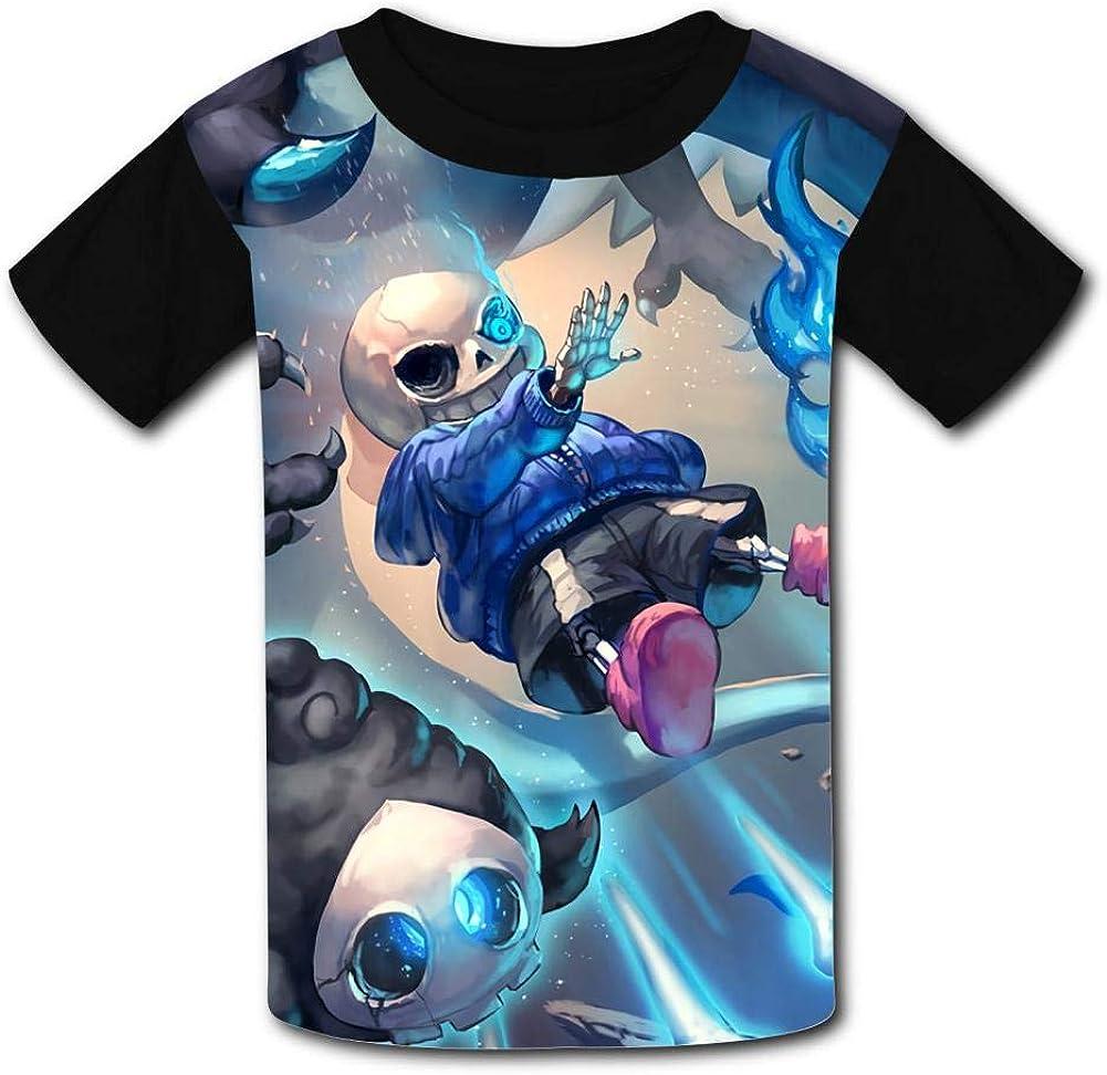 Undertale-Sans Magic Kids T-Shirts Short Sleeve Tees Summer Tops for Youth//Boys//Girls