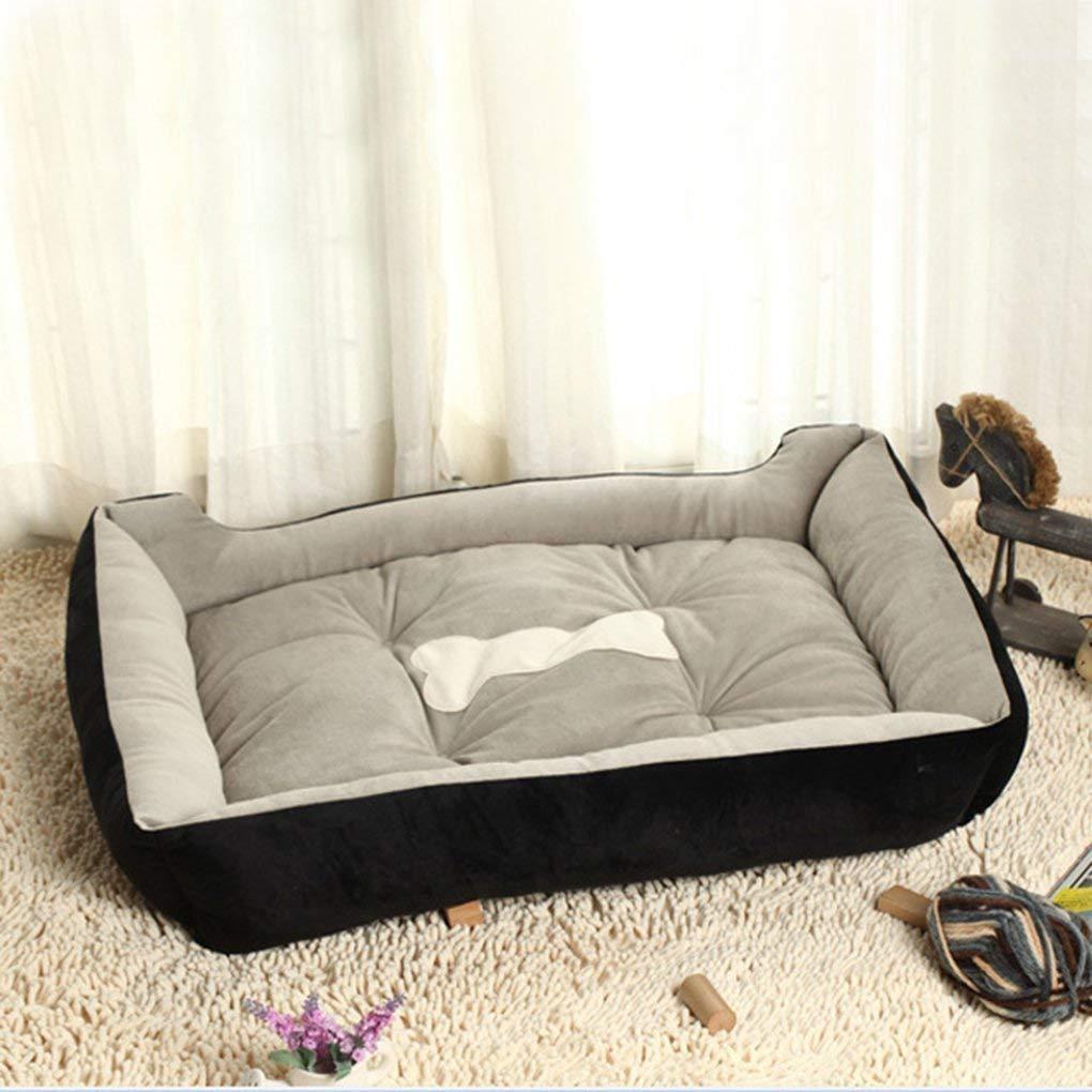 FERZA petsuppliesmisc Bed Mat Pad House Cushion Pet Bed Blanket Warm Soft Fleece Pet Dog Kennel Cat Puppy Black XXS-(45  31  15) cm