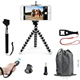 SMILEPOWO Lightweight Mini Tripod And Universal Smartphone Tripod Adapter, Phone Shutter Remote Control For iPhone, Android Phone,Any Smartphone