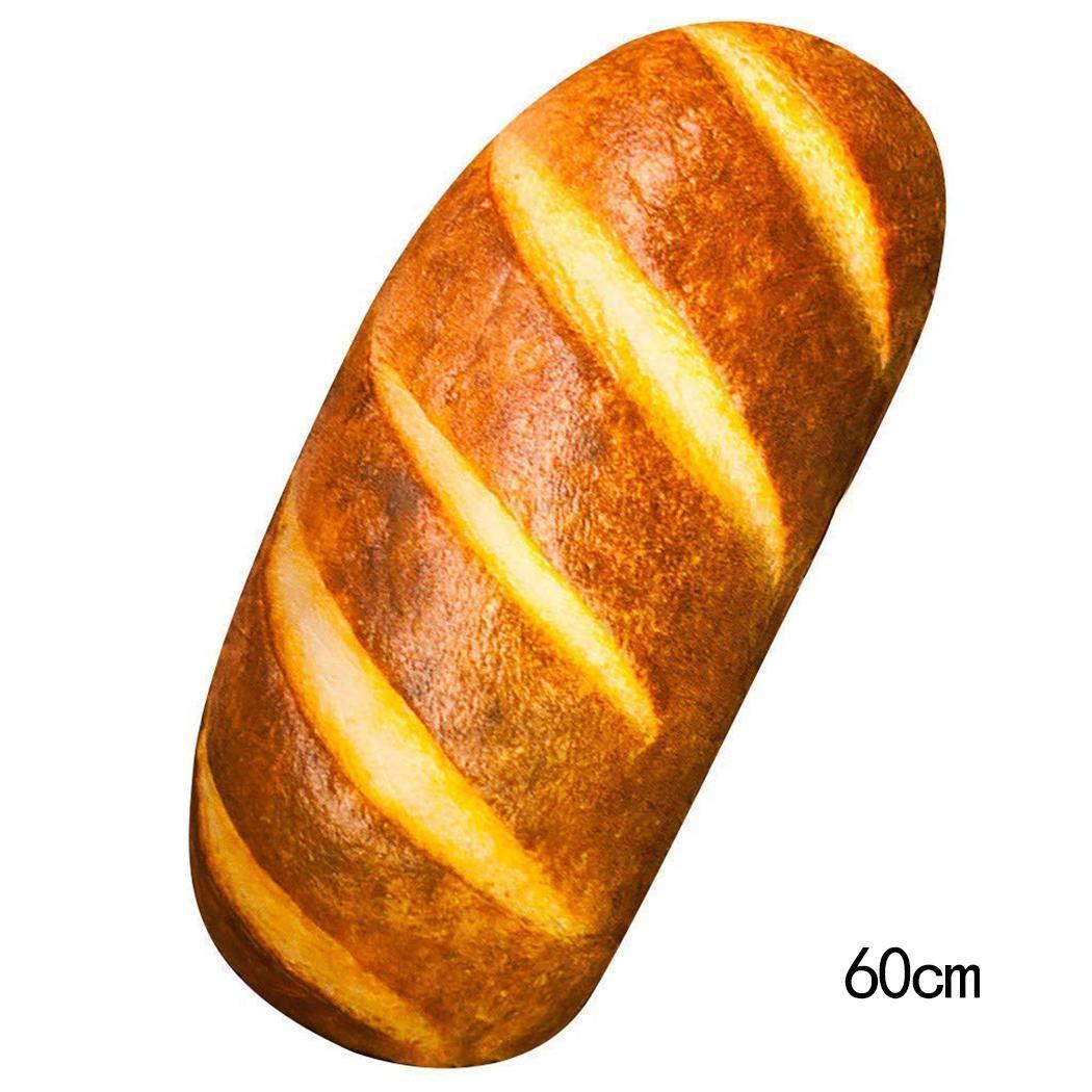 Leoneva 23.6'' 3D HD Prints Butter Bread Shape Pillow Plush Toys for Home Decor Pillows by Leoneva