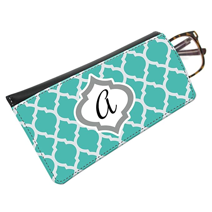 Amazon.com: snaptotes Teal marroquí Trendy Monogram anteojos ...