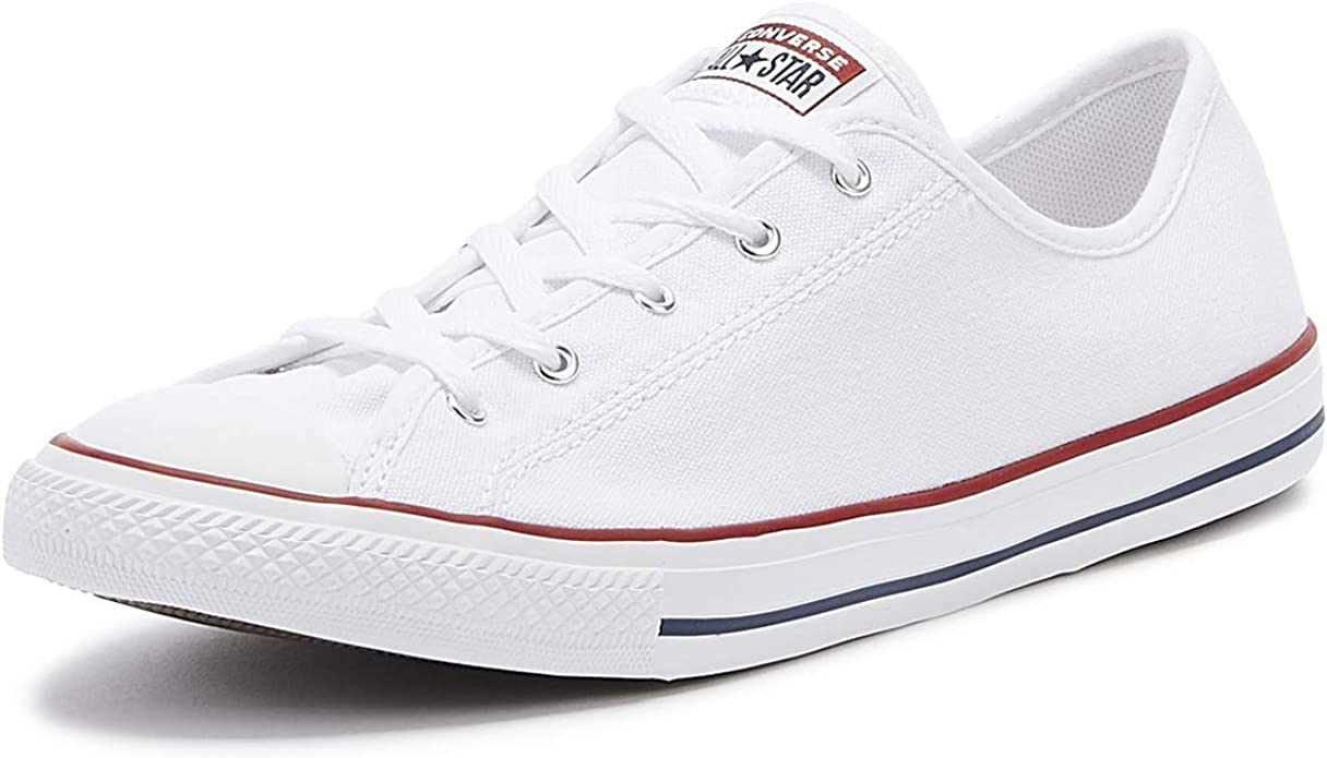 prueba Multa bueno  Converse Chuck Taylor All Star Dainty Ox White/Blue Canvas Adult Trainers  Shoes: Amazon.ca: Clothing & Accessories