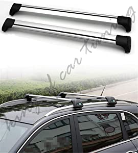 king of car tuning Ultra Quiet Silver Lockable Crossbar Cross Bar Roof Rail Luggage Rack Fits for Land Rover Range Rover Evoque 2010 2011 2012 2013 2014 2015 2016 2017 2018 2019 2020