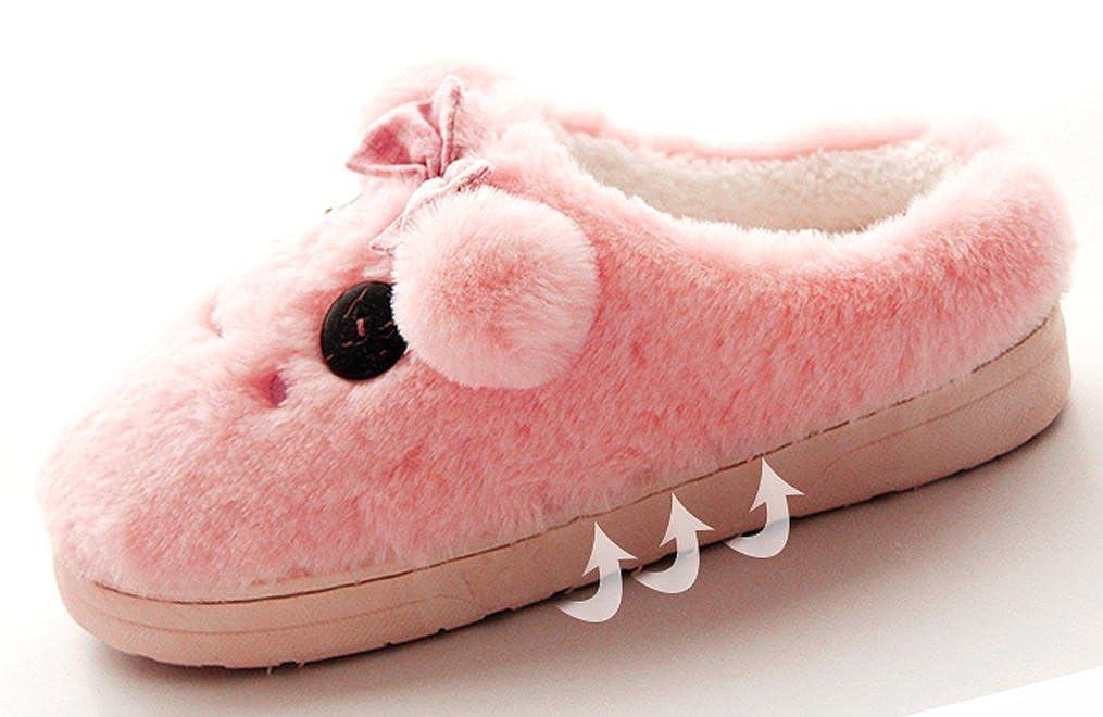 Cattior Little Kid Cartoon Cozy Warm Fuzzy Slippers Cute Slippers