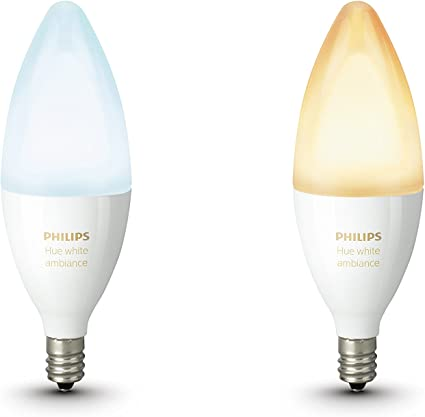 Philips Hue White Ambiance E14 LED Candle Double Pack