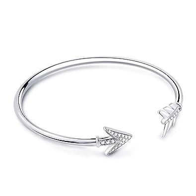 7d764b25ebd GNOCE Exclusive Charms Bracelets Arrow Bracelet Clasp Bracelets Snake Chain  Bracelets 925 Sterling Silver Rose Gold Black Classic Charms Bracelets for  Women