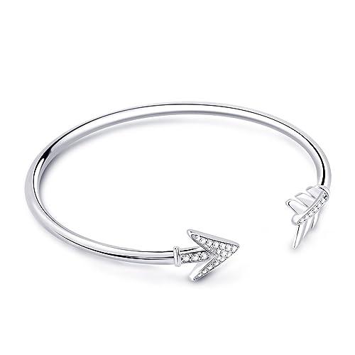 a395d916cf29a GNOCE Basic Charm Bracelet Arrow Bracelet Clasp Bracelets Exclusive ...