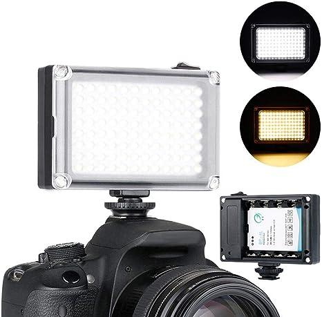 OOOUSE - Luz de vídeo LED, 96 Luces LED para cámara de Sony ...