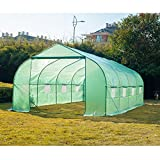 20'×10'×7' Outdoor Large Green House Walk in Greenhouses Tents Plants Gardening Backyard Nursery Grow Protective Shed