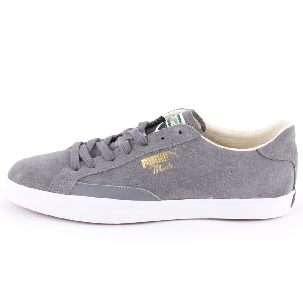 42c3e7d47f34 Puma Match Vulc 357089 02 Mens Laced Suede Trainers Grey White - 9   Amazon.co.uk  Shoes   Bags