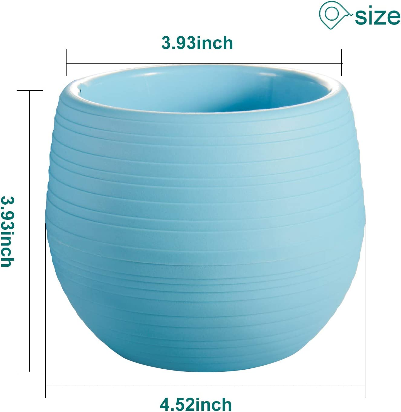 EHWINE 4 Inch Colorful Cute Egg Shape Flower Pots Indoor Plastic Plant Pots 6 Pack Seed Starting Removable Saucer Plant Pot with Drainage Hole for Cactus Succulent