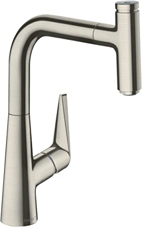 Hansgrohe Talis Select S Easy Install 1 Handle 13 Inch Tall Stainless Steel Kitchen Faucet With Pull Down Sprayer With Quickclean Magnetic Docking Spray Head In Stainless Steel Optic 72822801 Amazon Com
