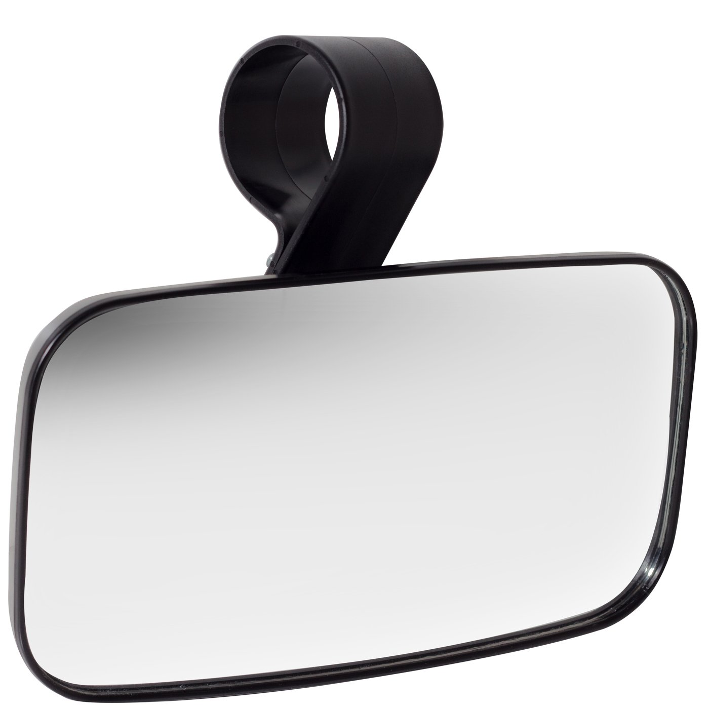 Rear View Mirror UTV Accessories - Mirrors Best for Wide Angle Center or Side-by-Side Off Road Clear-View - High Impact ABS Housing & Universal Roll Cage Bar Mounts with Shatter-Proof Tempered Glass by OxGord
