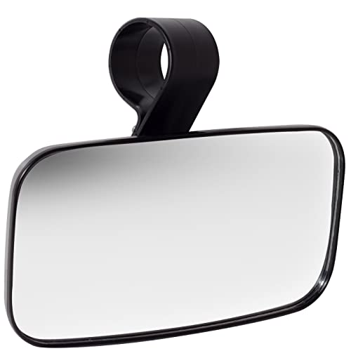 OxGord UTV Clear Rear View Center Mirror - High Impact ABS Housing with Shatter-Proof