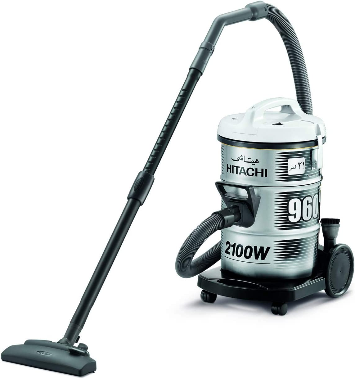 HITACHI Vacuum Cleaner, 2100W,21L 220/50-60HZ,Gray - CV960Y-SS220-PG