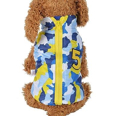 Ropa para Mascotas,Dragon868 Invierno cálido Grueso Camuflaje Americano Bandera Perros Chaleco Abrigo Ropa para Mascotas: Amazon.es: Ropa y accesorios