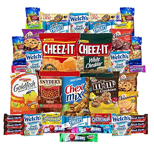 Cookies Chips & Candies Snacks Care Package Variety Pack Bundle Assortment Bulk Sampler (40 Count)