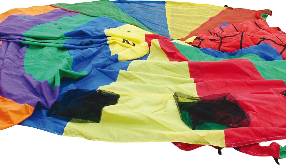 Sportsgear US Children Garden Games Outdoor Playing Rainbow Porthole Parachute 6.10m (20') Dam