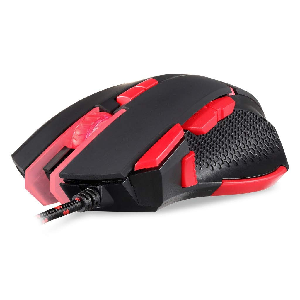 AcisuHu Mouse 4000 DPI 9 Buttons Wired Gaming Mice Programmable Optical Mice for High-end Gamer Game