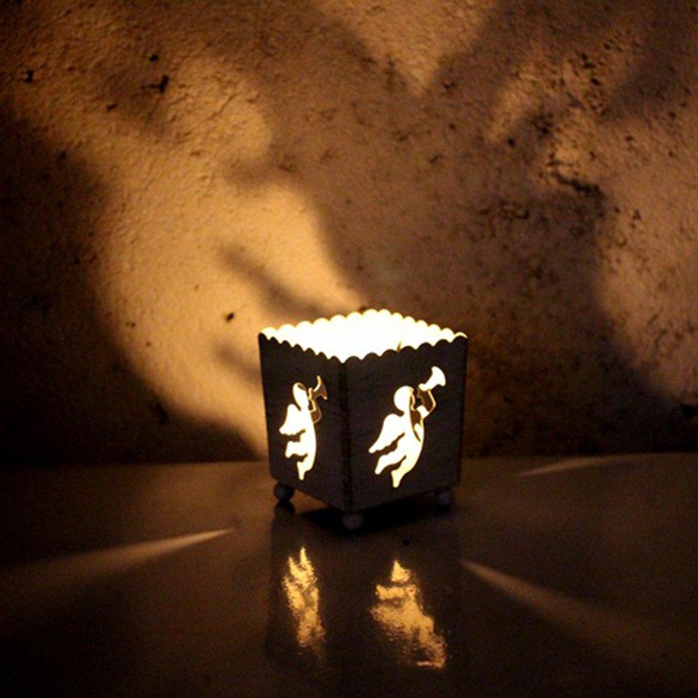 Arbol Negro Emorias 1 Pcs Portavelas de Navidad Romantica Candelabro para Metal Escritorio Decoracion Moderno Jaulas