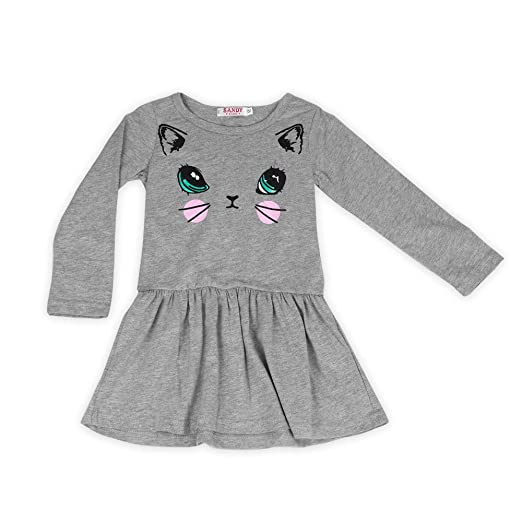 cfd8a749c0 Children Clothing Princess Dress Baby Girl Casual Cat Printed Dresses