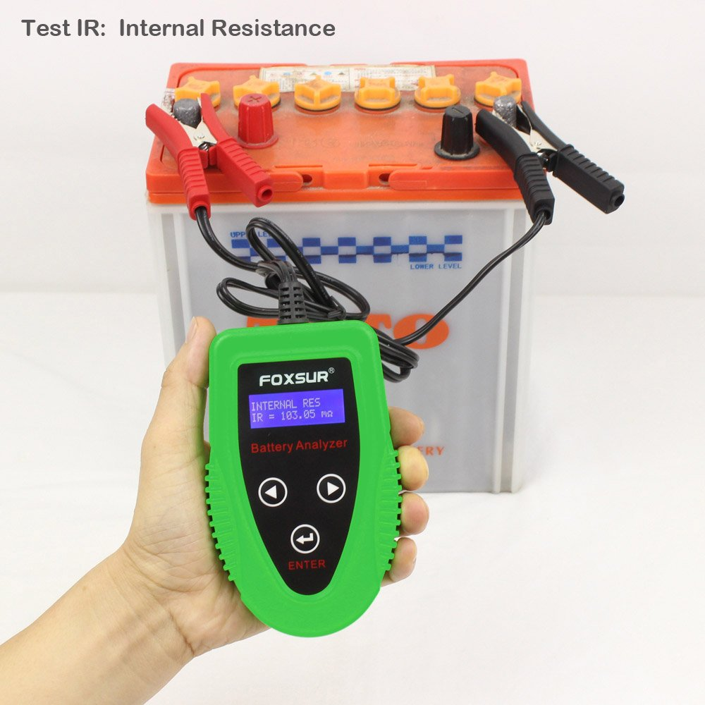 FOXSUR Digital 12V Car Battery Tester, Starting and Charging System Tester and Analyzer Of Battery Life ,IR,Voltage, Resistance and CCA Value For Flood, Gel, AGM, Deep Cycle Battery by FOXSUR (Image #5)