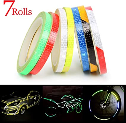 Bicycle Car Motorcycle Wheel Rims Light Reflective Sticker Decals Safty Tape