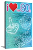 AllPosters I Love the 80S Greatest Movie Quotes Stretched Canvas Print, 36 x 24 in