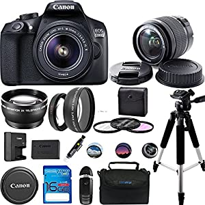 Canon EOS 1300D/Canon EOS Rebel T6 DSLR Camera w/ EF-S 18-55mm f/3.5-5.6 IS II Lens - Expo Accessories Bundle