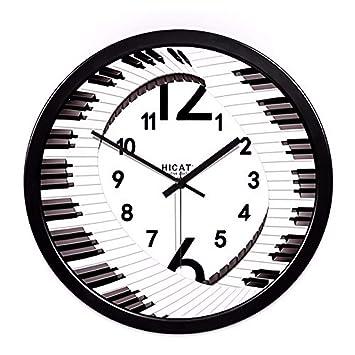 Elegante reloj de pared grande negrita clásico cuarzo reloj de pared silenciosa no funciona Salon ideas