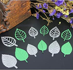 6 Pcs Natural Plant Leaves Cutting Dies Photo Album Scrapbooking Dies Metal Stencil Craft Cut Paper Pard Embossing