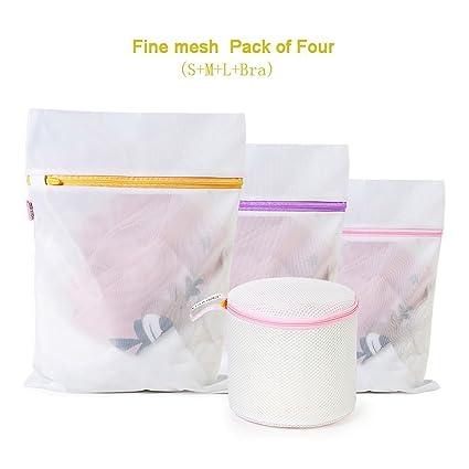 Premium de malla bolsas para ropa sucia ideal para la colada ropa interior, calcetines,