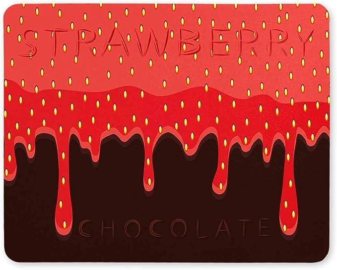 Divertido Berry rojo Fresa que gotea en marrón Chocolate ...